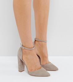 Туфли на каблуке с острым носком ASOS PENALTY - Серый