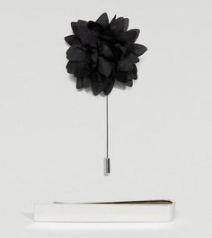 Свадебный набор с зажимом для галстука и булавкой-цветком для лацкана ASOS - Мульти