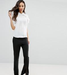 Расклешенные брюки с разрезами спереди Fashion Union Tall - Черный