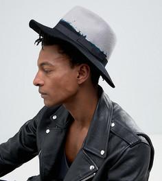 Черная структурированная шляпа с эффектом деграде Reclaimed Vintage Inspired - Черный