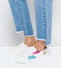 Кроссовки на шнуровке ASOS DIAMOND SKY - Белый