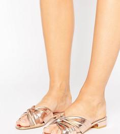 Сандалии-слипоны для широкой стопы с узлом New Look - Розовый