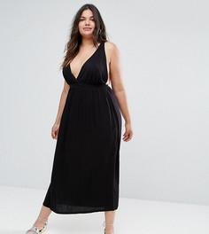 Платье-халтер макси ASOS CURVE - Черный