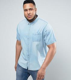 Выбеленная джинсовая рубашка Another Influence PLUS - Синий