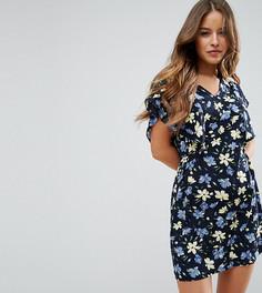 Платье с цветочным принтом Yumi Petite - Темно-синий