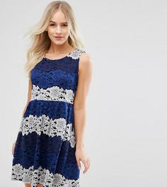Кружевное платье Yumi Petite - Темно-синий