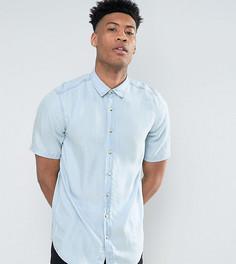 Джинсовая рубашка классического кроя ASOS TALL - Синий