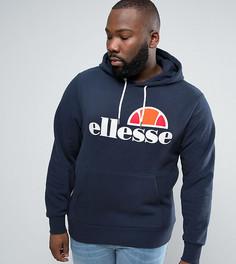 Худи с классическим логотипом Ellesse PLUS - Темно-синий
