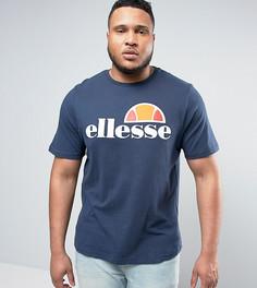Футболка с классическим логотипом Ellesse PLUS - Темно-синий