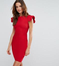 Платье-футляр с фигурными рукавами Vesper - Красный