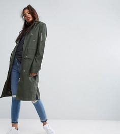 Вощеная куртка-дождевик ASOS TALL - Зеленый