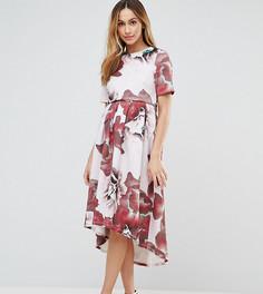 Платье-футболка с цветочным принтом ASOS Maternity NURSING - Мульти