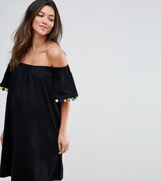 Платье с помпонами ASOS Maternity - Черный