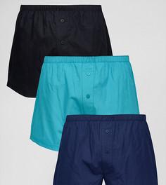 Набор из 3 синих тканых боксеров ASOS - СКИДКА - Синий