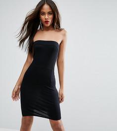 Облегающее платье мини с открытыми плечами ASOS TALL - Черный
