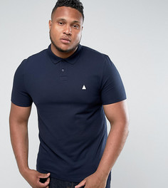 Темно-синяя облегающая футболка-поло ASOS PLUS - Темно-синий