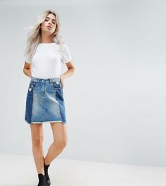 Деконструированная джинсовая мини-юбка с необработанным краем Urban Bliss Petite - Мульти