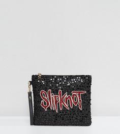 Расшитый пайетками и бусинами клатч Slipknot Sacred Hawk - Черный