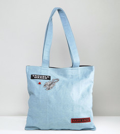 Джинсовая сумка-тоут Sacred Hawk Scorpion - Синий