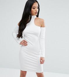 Облегающее платье с открытыми плечами Naanaa Petite - Белый