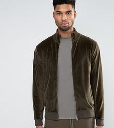 Велюровая спортивная куртка ASOS TALL - Зеленый
