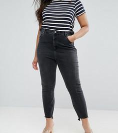 Черные джинсы в винтажном стиле с асимметричным краем ASOS CURVE FARLEIGH - Черный