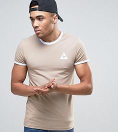 Бежевая футболка Le Coq Sportif Ringer эксклюзивно для ASOS 1622163 - Бежевый