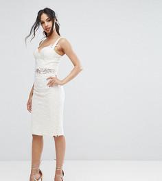 Комбинируемая кружевная юбка-карандаш Chi Chi London - Белый