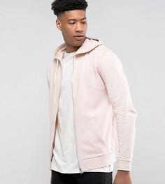 Розовый худи на молнии ASOS TALL - Розовый