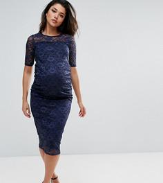 Облегающее кружевное платье Bluebelle Maternity - Темно-синий