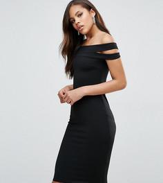 Платье-футляр с открытыми плечами City Goddess Tall - Черный