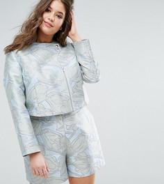 Жаккардовая куртка с цветочным узором ASOS CURVE - Мульти