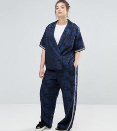 Жаккардовые брюки с пальмовым узором ASOS CURVE - Мульти