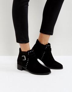 Замшевые ботинки с заклепками Park Lane - Черный