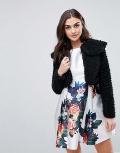 Куртка из искусственного меха QED London - Черный