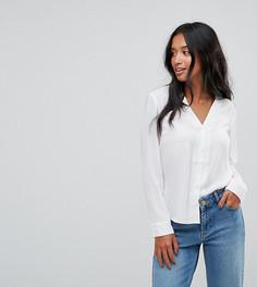Блузка с V‑образным вырезом ASOS PETITE - Белый