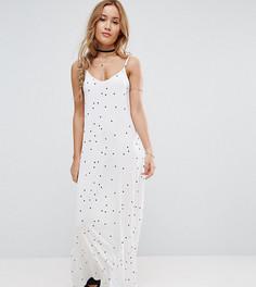 Платье макси в горошек ASOS PETITE - Белый
