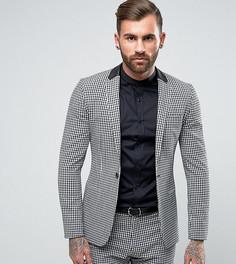 Супероблегающая куртка в клеточку Religion - Черный