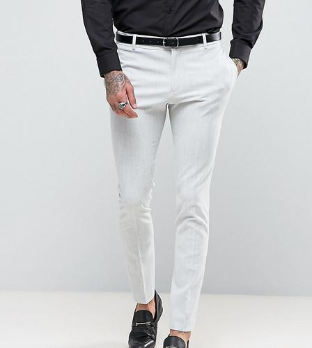Бледно-серые супероблегающие брюки Religion - Серый