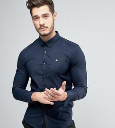 Темно-синяя рубашка скинни Jack Wills Hinton - Темно-синий