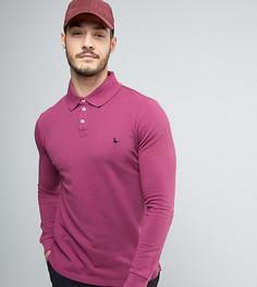 Ягодная футболка-поло с длинными рукавами эксклюзивно для Jack Wills Staplecross - Розовый