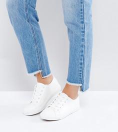 Кроссовки на шнуровке для широкой стопы New Look - Белый