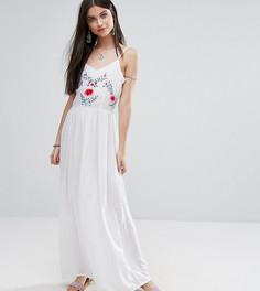 Платье с цветочной аппликацией Boohoo Petite - Белый