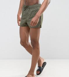 Ультракороткие шорты для плавания цвета хаки ASOS TALL - Зеленый