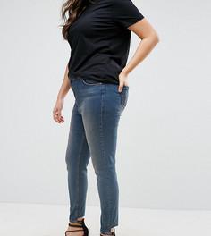 Облегающие джинсы с классической талией ASOS CURVE Lisbon - Синий