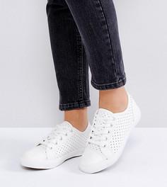 Сетчатые кроссовки для широкой стопы со шнуровкой New Look - Белый