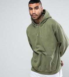 Зеленое окрашенное oversize-худи Reclaimed Vintage Inspired - Зеленый
