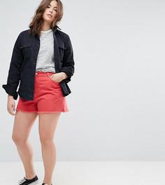 Красные джинсовые шорты с боковыми разрезами ASOS CURVE - Красный