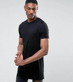 Супердлинная футболка с круглым вырезом ASOS TALL - Черный