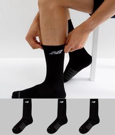 3 пары черных носков New Balance N5050-801-3EU BLK - Черный